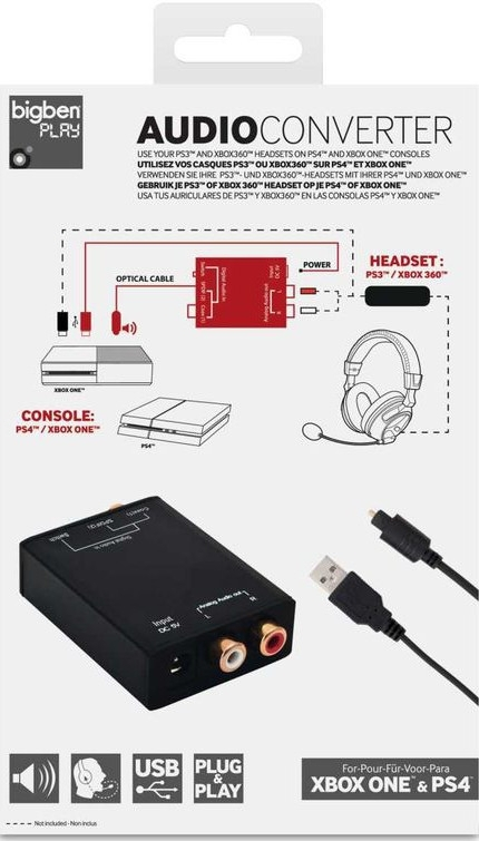 Audio Converter - Adapter Słuchawkowy do konsol (PS3 / PS4 / Xbox 360 / Xbox One)